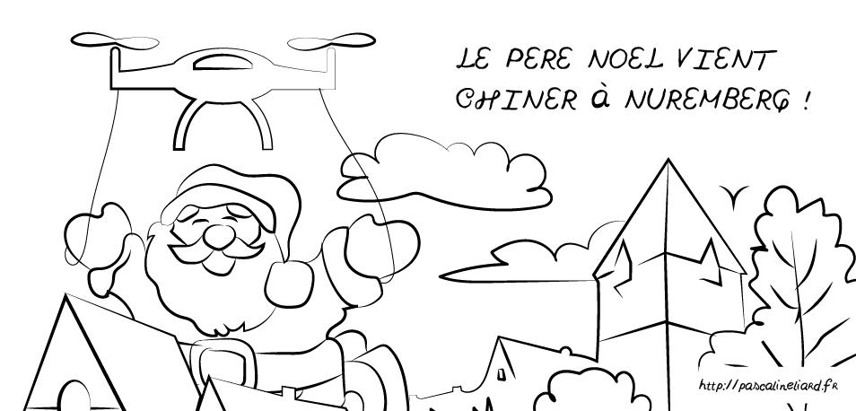 Le Père Noël vient chiner à Nuremberg