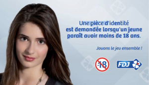 Interdiction des jeux d'argent pour les moins de 18 ans - Affiche FDJ