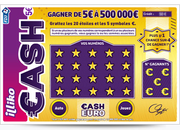 Le ticket à gratter Cash