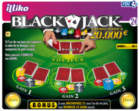 Le ticket à gratter Blackjack