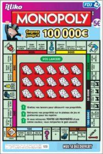 Le ticket à gratter Monopoly